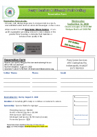 2020 Perry Seniors & Friends Golf Outing Reservation Form